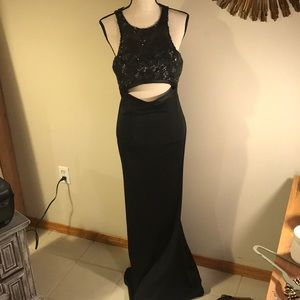 Sexy long black gown